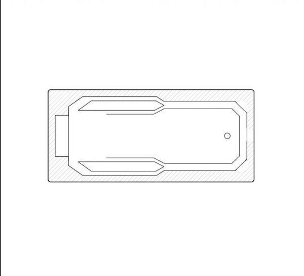 Marietta technische Zeichnung nur badewanne 1