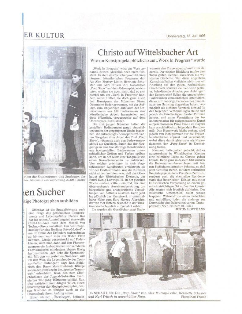 Christo auf Wittelsbacher Art 1