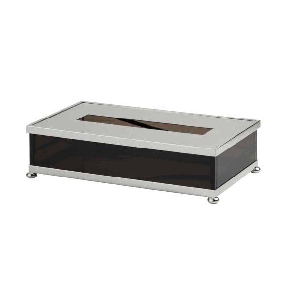 """Papiertuchbox """"OBSIDIENNE"""" - Cristal & Bronze"""